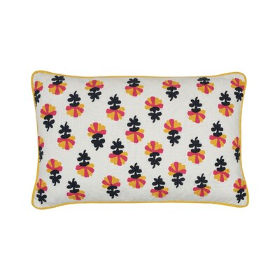 Addy Embroidered Cotton Lumbar Pillow