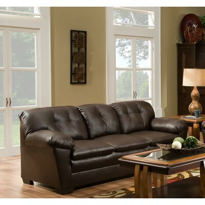 Weaver Loveseat Upholstery: Brown
