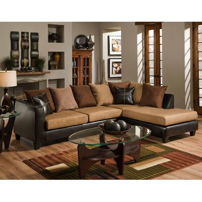 Divilly Sectional Upholstery: Camel/Brown