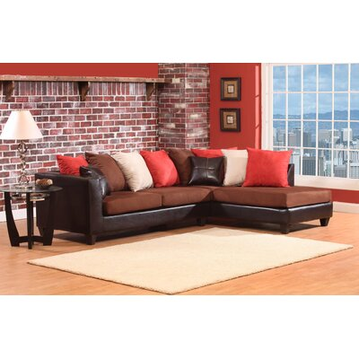 Divilly Sectional Upholstery: Chocolate Brown