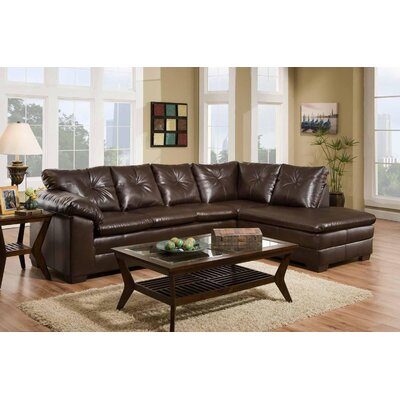 Jetton Sectional Upholstery: Brown