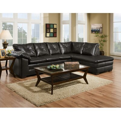 Jetton Sectional Upholstery: Black