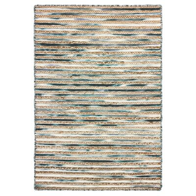 Vitagliano Slate Striped Hand-Tufted Gray Area Rug Rug Size: Rectangle 9 x 12
