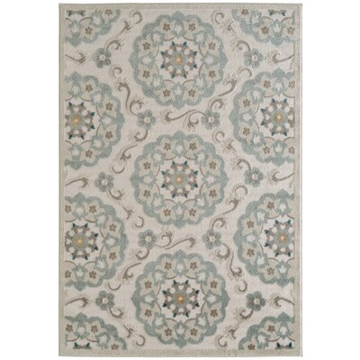 Archimbald Suzani Beige Area Rug Rug Size: Rectangle 36 x 56