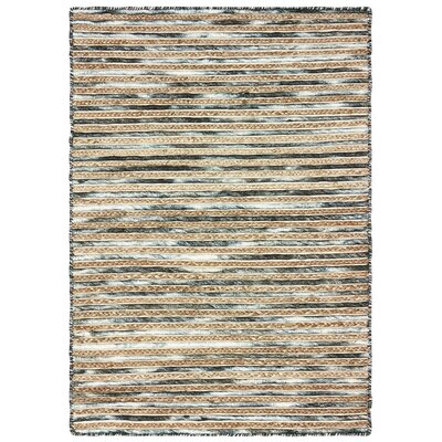 Vitagliano Striped Hand-Tufted Charcoal Area Rug Rug Size: Rectangle 9 x 12