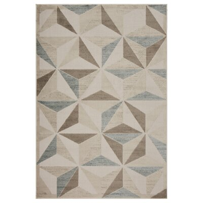 Gelb Diamond Subtility Beige Area Rug Rug Size: Rectangle 5 x 7