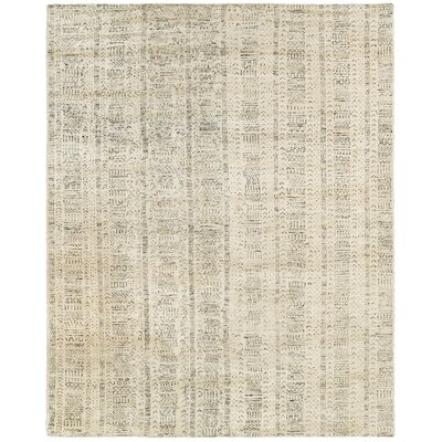 Runge Hand-Knotted Beige Area Rug Rug Size: Rectangle 10 x 14