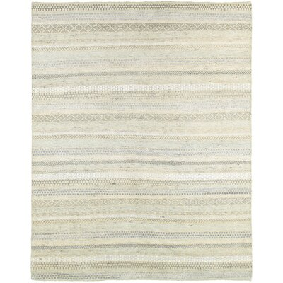 Runge Hand-Knotted Beige Area Rug Rug Size: Rectangle 9 x 12