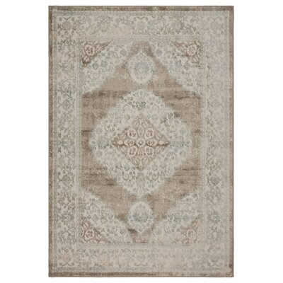 Archimbald Elegance Beige Area Rug Rug Size: Rectangle 5 x 7