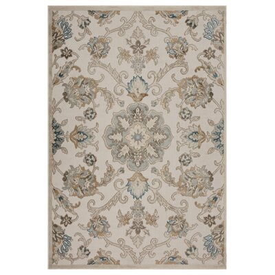 Archimbald Jacobean Beige Area Rug Rug Size: Rectangle 79 x 95
