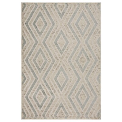 Pedraza Diamonds Beige Area Rug Rug Size: Rectangle 5 x 7