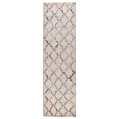 Archimbald Lattice Cream Area Rug Rug Size: Runner 2 x 7