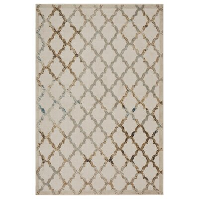 Archimbald Lattice Cream Area Rug Rug Size: Rectangle 36 x 56