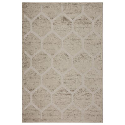 Archimbald Honeycomb Beige Area Rug Rug Size: Rectangle 79 x 95