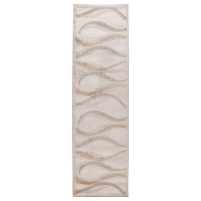 Obray Temperate Seas Cream Area Rug Rug Size: Runner 2 x 7
