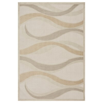 Obray Temperate Seas Cream Area Rug Rug Size: Rectangle 79 x 95