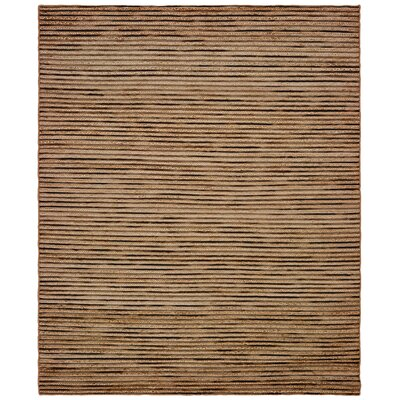 Vitagliano Striped Hand-Tufted Coffee Area Rug Rug Size: Rectangle 5 x 79