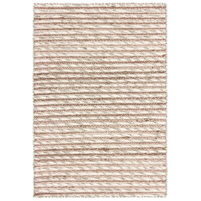 Vitagliano Striped Hand-Tufted Cream Area Rug Rug Size: Rectangle 9 x 12