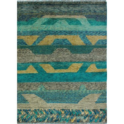 One-of-a-Kind Millender Hashim Hand-Knotted Wool Gray Area Rug