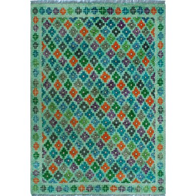 One-of-a-Kind Millender Urbi Lt. Hand-Knotted Wool Blue Area Rug