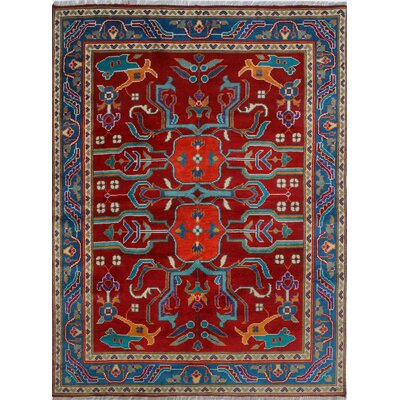 One-of-a-Kind Millender Baba Hand-Knotted Wool Red Area Rug