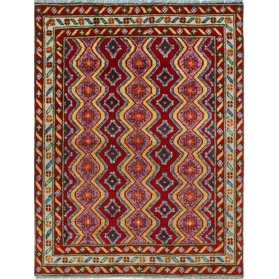 One-of-a-Kind Millender Tusajigwe Hand-Knotted Wool Red Area Rug