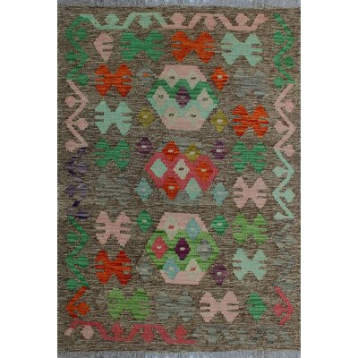 One-of-a-Kind Kratzerville Kilim Obioma Hand-Woven Wool Brown Area Rug