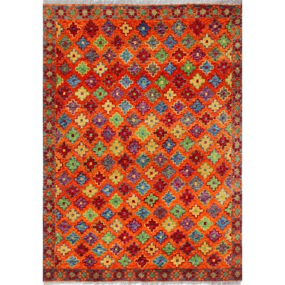 One-of-a-Kind Millender Jahi Hand-Knotted Wool Rust Area Rug