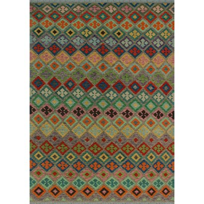 One-of-a-Kind Kratzerville Kilim Dofi Hand-Woven Wool Brown Area Rug