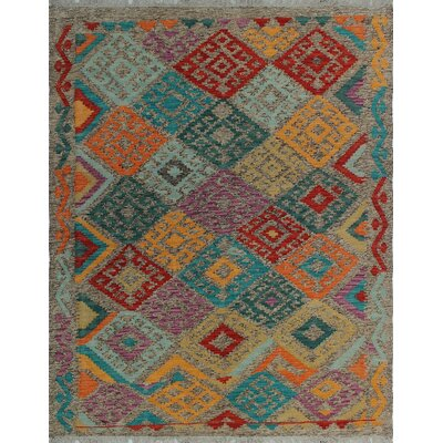 One-of-a-Kind Kratzerville Kilim Idi Hand-Woven Wool Brown Area Rug