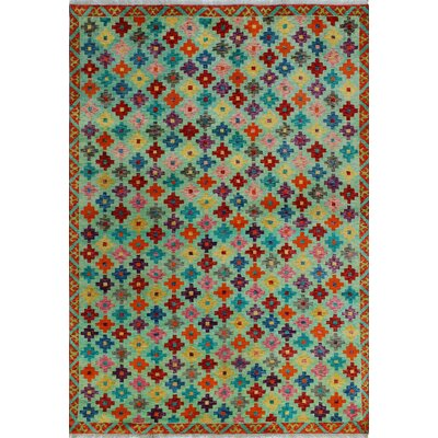 One-of-a-Kind Millender Waseme Lt. Hand-Knotted Wool Green Area Rug