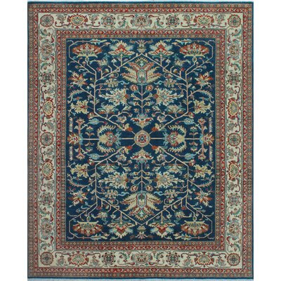 One-of-a-Kind Millbourne Fine Chobi Rudo Hand-Knotted Wool Blue Area Rug
