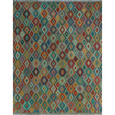 One-of-a-Kind Kratzerville Kilim Njemile Hand-Woven Wool Brown Area Rug