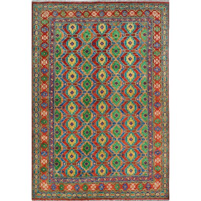 One-of-a-Kind Millender Babafemi Hand-Knotted Wool Red Area Rug
