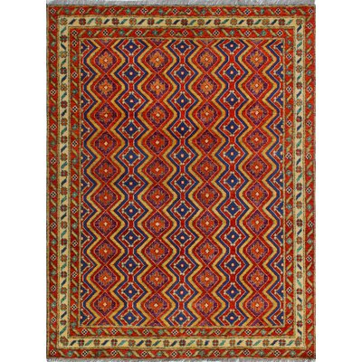 One-of-a-Kind Millender Saidah Hand-Knotted Wool Red Area Rug