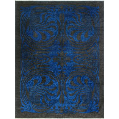 One-of-a-Kind Millbourne Fine Chobi Omorose Hand-Knotted Wool Blue Area Rug