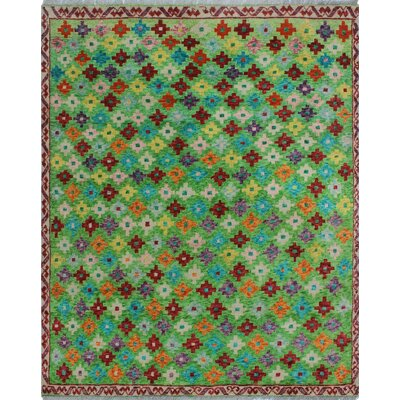 One-of-a-Kind Millender Abikanile Hand-Knotted Wool Green Area Rug