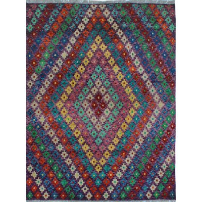 One-of-a-Kind Millender Adebola Hand-Knotted Wool Purple Area Rug