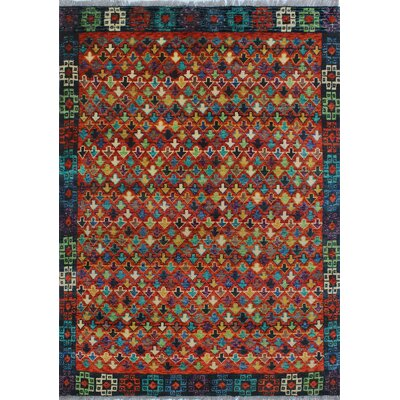 One-of-a-Kind Millender Sigele Hand-Knotted Wool Rust Area Rug