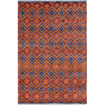 One-of-a-Kind Millender Unika Hand-Knotted Wool Purple Area Rug