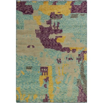 One-of-a-Kind Millender Uchechi Hand-Knotted Wool Beige Area Rug