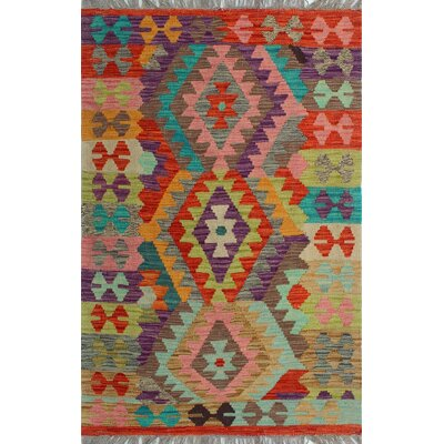 One-of-a-Kind Kratzerville Kilim Akinlabi Hand-Woven Wool Ivory Area Rug