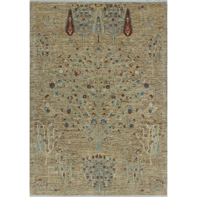 One-of-a-Kind Millbourne Fine Chobi Danielle Hand-Knotted Wool Beige Area Rug