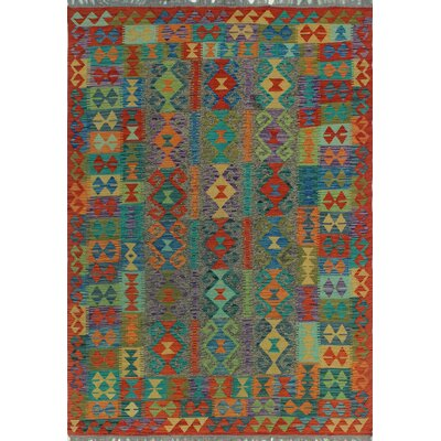 One-of-a-Kind Kratzerville Kilim Akwete Hand-Woven Wool Brown Area Rug