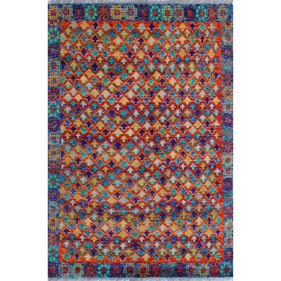 One-of-a-Kind Millender Masud Hand-Knotted Wool Rust Area Rug