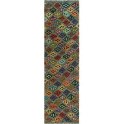 One-of-a-Kind Kratzerville Kilim Sekelaga Hand-Woven Wool Brown Area Rug