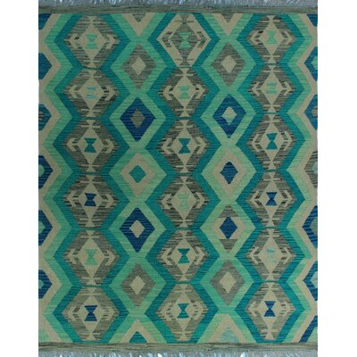 One-of-a-Kind Kratzerville Kilim Nailah Hand-Woven Wool Ivory Area Rug