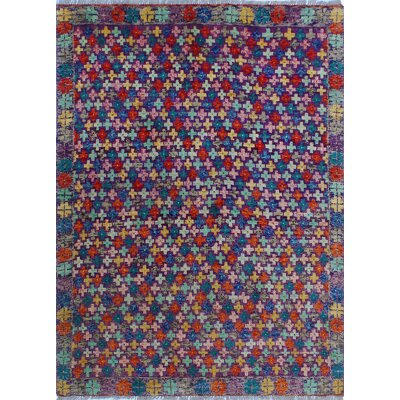 One-of-a-Kind Millender Oluremi Hand-Knotted Wool Purple Area Rug