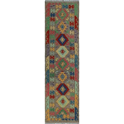 One-of-a-Kind Kratzerville Kilim Adesina Hand-Woven Wool Rose Area Rug
