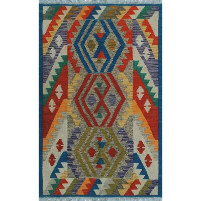 One-of-a-Kind Kratzerville Kilim Osayimwese Hand-Woven Wool Red Area Rug